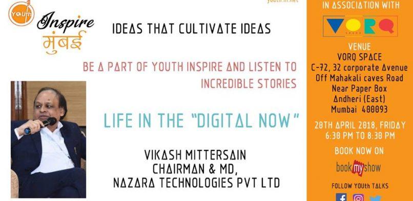 #IBG Founder & President, Mr. Vikash Mittersain is #Speaker at YOUth Talks at Vorq Space, Andheri East, Mumbai