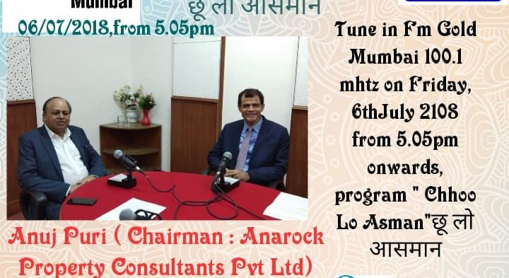 India Business Group July 6 ·  Mr. Vikash Mittersain, President of India Business Group in conversation with Mr. Anuj Puri, Chairman of Anarock Property Consultants Pvt. Ltd.