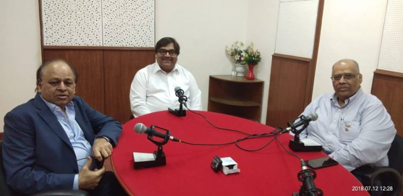 "#IBG President Mr. Vikash Mittersain's Weekly Radio Talk in conversation with Mr. Vijay Jatia, President, Rotary Club of Bombay and PP Rtn. Sandip Agarwalla, Dist. Secretary – Public Image, Group Chief Avenue Head – TRF Support & Promotion on FM Gold Mumbai 100.1Mhtz broadcasted on 13th July 2018 in the program ""Chhoo lo Asmaan"""