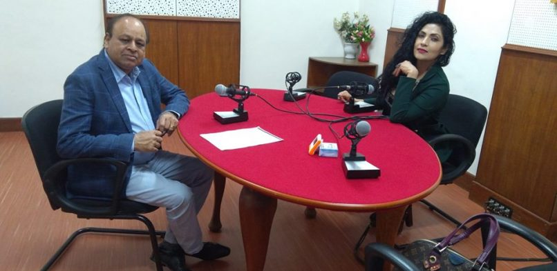 """#IBG President Mr. Vikash Mittersain's Weekly Radio Talk in conversation with Ms. Simran Deenz Ahuja, Miss India Magnificent Icon 2013 on FM Gold Mumbai 100.1Mhtz broadcasted on 31st August 2018 in the program """"Chhoo lo Asmaan""""."""