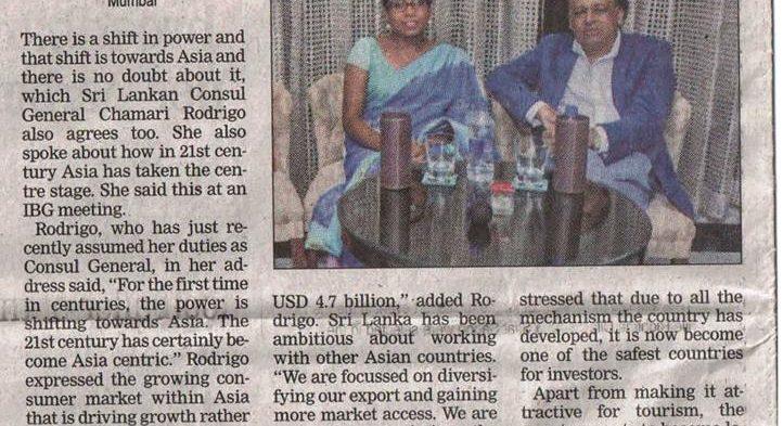 #IBG – Indo – #SriLanka Consulate Event held on 24th April 2018 at Artisan, Sofitel Hotel, BKC