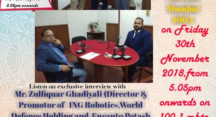 #IBG President Mr. Vikash Mittersain in conversation with Mr. Zulfiquar Ghadiyali, Director & Promoter of ING Robotics, World Defence Holding and Encanto Potash Corp.