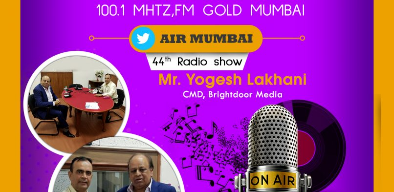"#IBG President Mr. Vikash Mittersain's Weekly Radio Talk in conversation with Mr. Yogesh Lakhani, CMD, Bright Outdoor Media Pvt. Ltd. on FM Gold Mumbai 100.1Mhtz broadcast on 7th June 2019 in the program ""Chhoo lo Asmaan""."