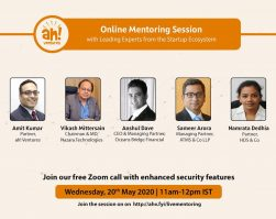 Live Webinar with Ah! Ventures on 20th May, 2020
