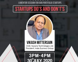 Mr Vikash Mittersain – mentoring session at the India Accelerator – 30.07.20