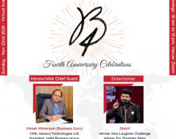 Mr. Vikash Mittersain, invited as a Chief Guest, for BNI BEACON- 4th ANNIVERSARY CELEBRATION on 22.11.2020