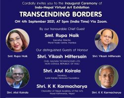 Mr Vikash Mittersain invited as Guest of Honour for the Inaugural ceremony –  Indo Nepal Virtual art exhibition